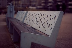 HBM  - Swiss Cheese (J a n W i l l e m) Tags: hbm bench dof benches holes pentax k10d takumar 50mm 14 manual