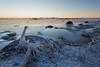 Icy shore (Jukka M.) Tags: finland helsinki lauttasaari winter cold ice sea seashore twilight water