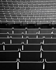 other empty seats (christikren) Tags: oper sydney australia opera empty seats reihen sessel sw bw againandagainandagain christikren schwarzweiss fullframepatterns panasonic happynewyear travel foto dark