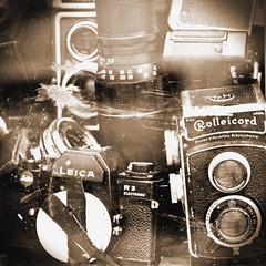 Pioneers Of Photography (TablinumCarlson) Tags: europa europe deutschland germany brd niedersachsen lower saxony braunschweig leica brunswiek brunswick harz hansestadt hanse analog film kamera camara rollei rolleicord leicar3 sepia sw antik vignette leicam m8 90mm summicron pioneer piniere fotografie photography rolleiflex leitz franke heidecke gmbh twinlens reflex camera twinlensreflexcamera rollfilm kleinbildfilm objektiv trödler broker fotoapparat alt old nostalgie