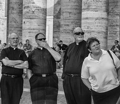 Rome 2007. (MBFitzmahan Photography) Tags: blackandwhitephotography streetphotography catholic church travel rome vatican candid crowds