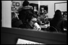 (|Digital|Denial|) Tags: 35mm expired film analog ilford hp5 minolta x700 halifax autumn portrait punx mirror reflection cafe breakfast coffee