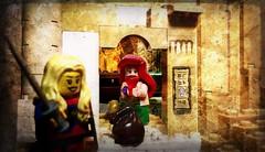 Hooray! (Lookatmy Back ( aka DarthIgorMortis )) Tags: lego minifigures minifig mini figures paldin halfling jewel quest advnture tomb ancient hieroglyph mission accomplished fantasy toys photography photomanipulation