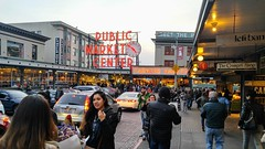Pike Place Market in Seattle (Evan Didier) Tags: fish pikeplace pikeplacemarket publicmarket seattle dining restaurants shopping stores parking tourists lasallehotel farmersmarket crumpetshop