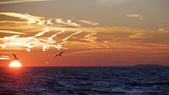 Sunset and clouds at Hammonasset