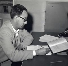 Walter Rudin as a young professor, ca. 1950s (ali eminov) Tags: blackwhite monochrome men professors mathematicians walter