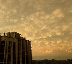Golden Sun (elektron9) Tags: sunset summer sky panorama building clouds golden washingtondc dc washington cloudy afterthestorm maryland bethesda yellowish