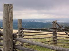 Rural and Urban (OH_Snapper) Tags: park county city urban mountain skyline rural fence colorado open view metro space horizon olympus denver hike co vista jefferson plains distance frontrange corral whiteranch xz xz1