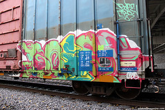 Boise Graffiti (Snake Oil Magazine) Tags: ohio graffiti boise vandalism spraypaint cbs traingraffiti snakeoil benched trainbenching