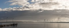 Quiet morning on the river (.Stephen..Brennan.) Tags: sky panorama clouds cityscape jetty au australia westernaustralia swanriver waterscape applecross fa43 pentaxk3