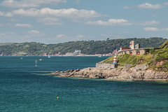 Two forts Two Counties (gillyd.d) Tags: sea seascape clouds cornwall plymouth devon sound fortpicklecombe fortbovisand