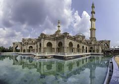 S E R E N I T Y (rizalfaridz) Tags: sky cloud lake reflection art water architecture tranquility mosque serenity islamic masjidwilayahpersekutuan