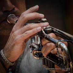 Horn blower . (Digidiverdave) Tags: music spain entertainment menorca baleares mahon davidhenshaw laxarangadelxubec henshawphotography