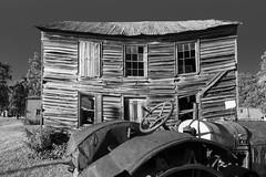 Farm (joeqc) Tags: bw abandoned monochrome sony forgotten saggy greytones rurex oncewashome lonex rx100ii rx100mii