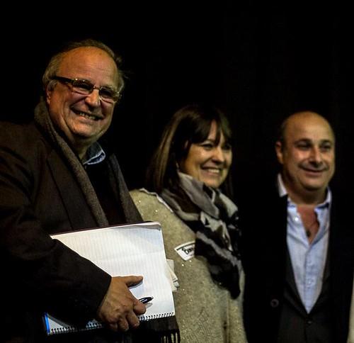 Alejandro Sangenis (Prensa), Bárbara Herranz (Arte) y Carlos Castellano (Presidente HCD)