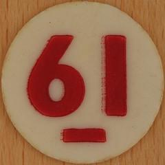 Bingo Number 61 (Leo Reynolds) Tags: xleol30x squaredcircle number numberbingo xsquarex bingo lotto loto houseyhousey housey housie housiehousie numberset 61 sqset120 60s canon eos 40d xx2015xx xxtensxx sqset