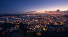 Magic over the Peninsula (William C. Y. Chu) Tags: city longexposure sunset urban skyline hongkong cityscape dusk  kowloon   magichour hongkongisland victoriahabour victoriaharbour  kowloonpeninsula feingoshan
