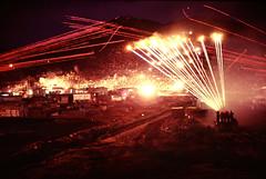 Long Exposure Photos of Gunfire at Night near Phu Tai, Vietnam, 1970 - Photo by James Speed Hensinger (manhhai) Tags: vietcong vc tracers tracer harrasementinterdiction harrassmentandinterdiction hi machinegun weapon gunfire gun phutaiquinnhon vietnamrvnvietnam vn