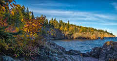 Colorful Shovel Point (Paul Domsten) Tags: shovelpoint minnesota northshore pentax tettegouchestatepark fall autumn lakesuperior lake greatlake trees rocks