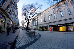 Pedestrianised Cardiff (Tyrone Williams) Tags: cardiff samyang8mm 8mm canon canon7d street wideangle architecture people insight shoppers capital wales 2017 winter