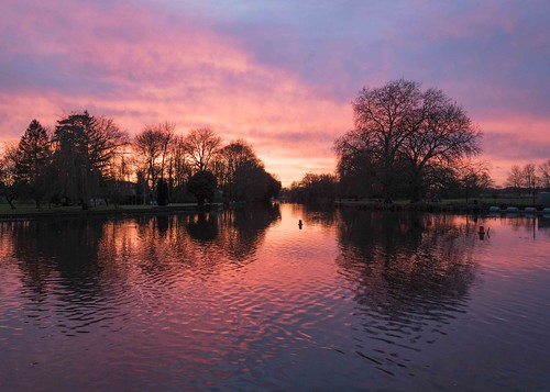 Winter Sunset at Godmanchester