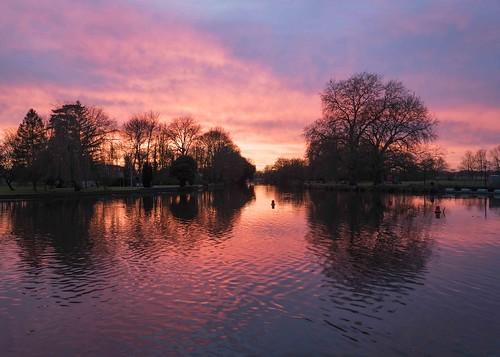Winter Sunset at Godmanchester