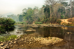 A river in the nothern part of Thailand (Stig V.) Tags: river thailand forest desolate