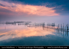Spain - Valencia's Albufera Natural Park - L'Albufera lake with fishing nets at Sunset (© Lucie Debelkova / www.luciedebelkova.com) Tags: valencia spain spanish españa kingdomofspain reinodeespaña southwesterneurope country europe europeanunion eu es wonderful fantastic awesome stunning beautiful breathtaking incredible lovely nice best perfect world exploration trip vacation holiday place destination location journey tour touring tourism tourist travel traveling visit visiting sight sightseeing wwwluciedebelkovacom luciedebelkova luciedebelkovaphotography photography photo landmark dusk bluehour twilight night sunset