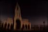The Couple, Jan 2017 (Lumière Passagère) Tags: dark outdoor 6x9 sea spain evening harbor church sunset romantic purple grain blur sweep nostalgic distorted plaza cross tower light sky espagna gjon city couple orientation asturias northspain border