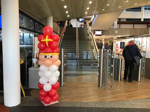 Ballonpilaar Sinterklaas Unilever Vlaardingen