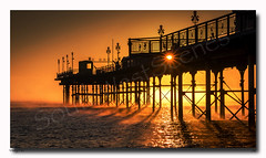 Misty Pier (jeremy willcocks) Tags: teignmouth pier devon uk england sunrise sun sunstar colour landscape seascape shadows sea beach jeremywillcocks wwwsouthwestscenesmeuk fujixt1 xf50140mm