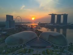 (XXVIII) Tags: mavicpro esplanade sunrise singapore singaporeflyer mbs kongping