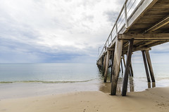 Grange Jetty Colour (red snapper 205) Tags: jetty pier pylon timber old ocean sea beach shore wave sky cloud storm sand adelaide landscape explore southaustralia