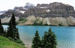 Bow Lake (Patricia Henschen) Tags: alberta canada bowlake bowglacier bowfalls bow lake parcs nationalpark parks icefieldsparkway simsponsnumtijahlodge lodge numtijah jimmysimpson banffnationalpark banff glacier glacial mountain mountains rocky rockies clouds northern canadian rockymountains cloudy