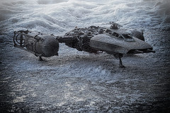Hoth (grzegorz.s) Tags: starwars ywing bandai model 172 snow ice hoth closeup stacking 25mm olympus fighter toy toyphoto