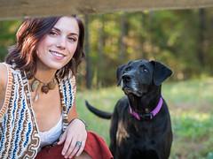 Paige and Emma (Vincent F Tsai) Tags: girl dog portrait happy smile panasonic leicadgnocticron425mmf12 lumixg7 bokeh dof