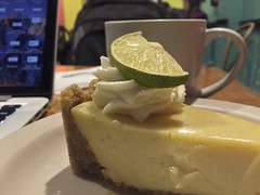 Key Lime and Coffee (austin.restaurants) Tags: dessertkeylime ios102beta iphone6 instagram public square tumblr 2017 january 26th 170126 thursday january26th img6559 locationhydepark restaurantquacks43rdstreetbakery