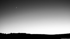 Crescent Moon Over Arches National Park (Brady Whitesel) Tags: archesnationalpark blackandwhitephotography anseladams nationalparks crescentmoon sunset silhouette