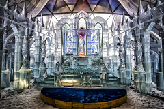 Ice church / High Tatras, Slovakia (mystero233) Tags: church ice altair icecubes sculptures cold winter 2017 newyear hightatras tatras tatry vysoketatry mountains slovakia art indoor light shadow