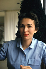 1950s red slides (foundin_a_attic) Tags: fashion vintage woman style eyebrows