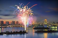 Tokyo Bay Fireworks (Suzuki san) Tags: tokyo japan odaiba fireworks longexposure rainbowbridge cityscape nightscape seascape colorful