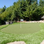 """putting green, home golf course, home putting green, boulders, artificial grass, turf <a style=""""margin-left:10px; font-size:0.8em;"""" href=""""http://www.flickr.com/photos/117326093@N05/18169868810/"""" target=""""_blank"""">@flickr</a>"""