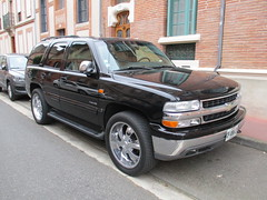 Chevrolet Tahoe (xwattez) Tags: street france chevrolet car automobile tahoe voiture chevy american transports toulouse suv rue 2015 véhicule américaine