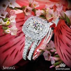 Simon G MR2459 Diamond Engagement and Wedding Rings (Whiteflash Diamonds) Tags: wedding flower macro engagement texas houston ring diamond f cushion gem sugarland gemstone vs2 simong whiteflash size475 090ct 046ctwmelee