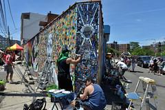 It's a Block Party! (Eddie C3) Tags: newyorkcity streetart art graffiti graffitiartist astoriaqueens wellingcourt wellingcourtmuralproject 6thannualwellingcourtmuralproject