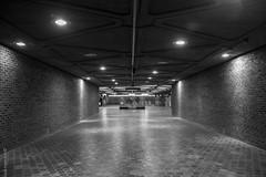 Place Saint Henri (Layla Sorella) Tags: lighting city urban white canada black architecture contrast underground subway lights evening living downtown metro quebec montreal no flash tunnel pot enter dslr fragments