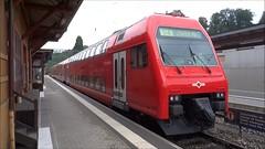 SZU Trainset composed with the electric locomotive type Re 456 N 552 in Langnau am Albis. (Franky De Witte - Ferroequinologist) Tags: de eisenbahn railway estrada chemin fer spoorwegen ferrocarril ferro ferrovia