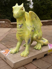 Birdie By Alex Egan GoGo Dragons Sculpture Norwich July 2015 (symonmreynolds) Tags: sculpture statue birdie dragon norfolk july norwich 2015 alexegan gogodragons