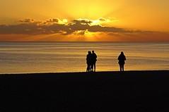 Sunset Watching on Brighton Beach (baxter.ad) Tags: sunset beach pebbles brighton beauty 2017 january sussex england uk