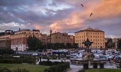 City view (balintmolnar1) Tags: rome beautiful streetphotograhpy lumixgh4 gh4 canon colosseum pinokio fountain river fruits guard sunset stairs bnwphotography motor vespa reflection